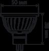 Светодиодная лампа X-Flash GU5.3 5 Вт 3000K 43033